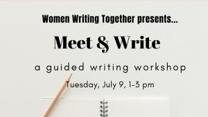 Women Writing Together workshop session July 9, 2019